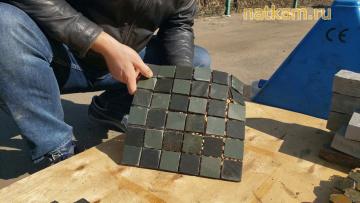 Мозаика чёрно - зелёная (натуральный камень)