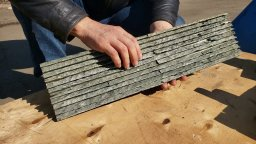 3D плитка зелёная (натуральный камень)