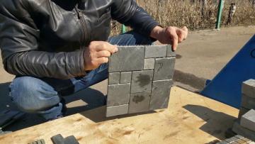 Мозаика черная (натуральный камень)