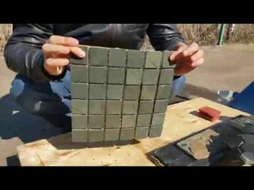 Мозаика зелёная (натуральный камень)